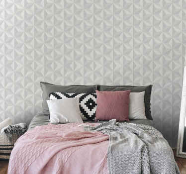 A simple geometric tringle shape wallpaper to decorate your home. It can be decorated on a  living room or for bedroom as headboard.