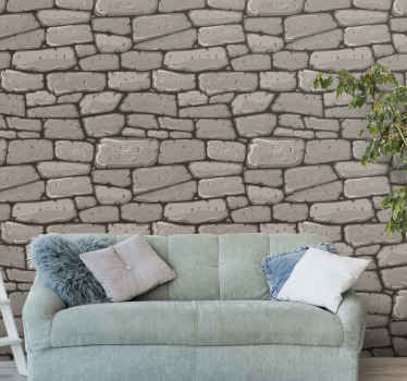 Rustic stones wallpaper to refurbish your home with an amazing effect. Suitable luxury living room wallpaper with stone texture design.
