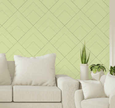 Diamonds patterns with yellow background room wallpaper for home decoration. The design can be decorated on your living room or bedroom.