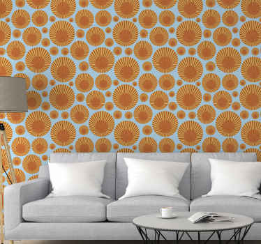 Colorful sunshine wallpaper illustration design for home and office decoration. It is original, durable, removable, waterproof and easy to apply.
