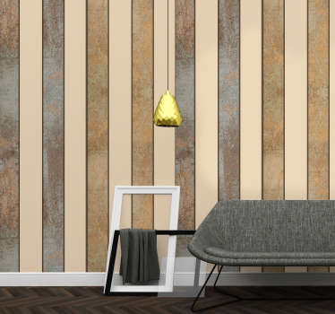 Amazing patterned wallpaper with a fantastic white and beige striped pattern perfect for the living room and dining room.
