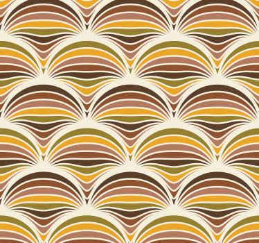 70年代图案复古客厅壁纸。也适用于房屋中的其他空间,并且质量一流。用最优质的材料生产。