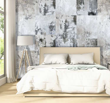 Renew the walls of your bedroom or living room with this wonderful abstract wallpaper with a pattern with different fills.