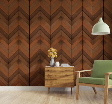 Let go of the dull white walls and decorate your home in an original way with this sublime wood texture wallpaper in shades of dark brown.