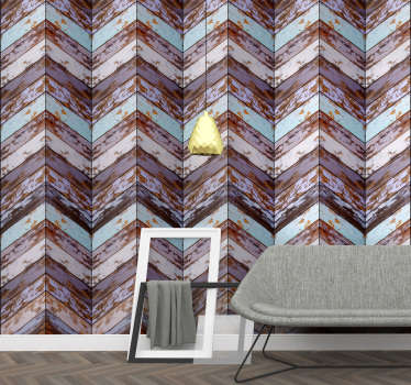 Give life and color to the walls of your home with this magnificent textured wallpaper imitating wood in pastel shades with a rustic touch.