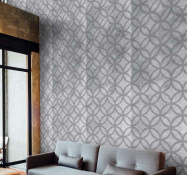 Give your living room or bedroom a new lease of life with this magnificent geometric shapes wallpaper imitating concrete.