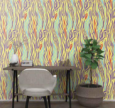 Papel pintado vintage con estampado de animales de cebra para decoración del hogar, oficina, escuela y negocios ¡Fácil de aplicar!
