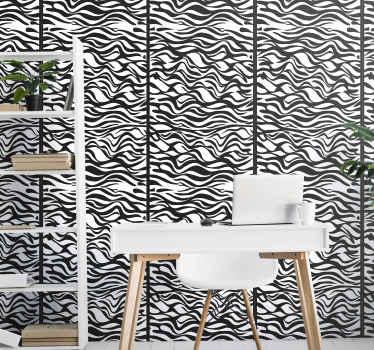 ¿Buscas un bonito y original papel pared rayas horizontales con estampado de cebra en blanco y negro? Este producto es para ti
