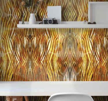 Décorez le mur d'un salon, d'une chambre, d'un bureau ou de tout autre espace avec ce papier peint texturé à imprimé zèbre. Facile à appliquer et durable.