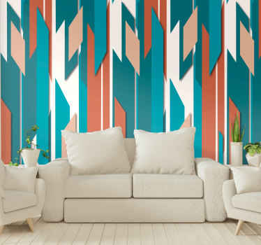 Fill your walls with color and life with this wonderful abstract wallpaper in vintage style with summer colors, perfect for the living rooms.