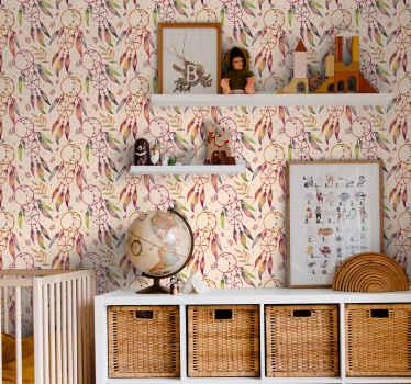 Dejligt soveværelse tapet med mønstret blomsterdesign. Dette produkt vil tilføje et vintage touch på dit rum med det design tone og struktur.