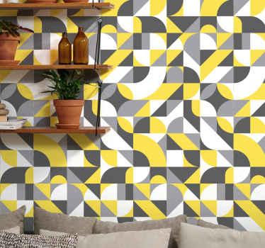 多色几何形状的墙纸装饰,用于您的房屋,商业场所等。它采用优质材料制成,非常耐用。