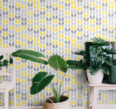 Beautiful calm grey and yellow pattern wallpaper decoration for a bedroom, living room and even for an office space. Easy to apply and durable.