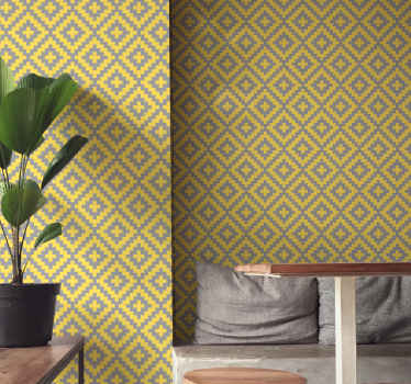 Classic grey and yellow wallpaper to decorate your home to give it a new look and shape. . It is durable and manufactured from quality material.