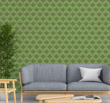 Green wallpaper with diamonds that will give an elegant and serious touch where you want to use this fantastic design. +10,000 satisfied customers.