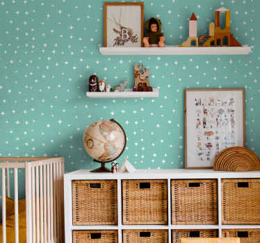 Beautify the room of your baby or kid with this amazing green background starry wallpaper. It is manufactured from top quality material and durable.