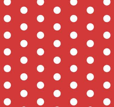 Migliora l'aspetto di qualsiasi spazio con un aspetto brillante con questa carta da parati di lusso 3d moderna rossa con punti bianchi chiazzati.