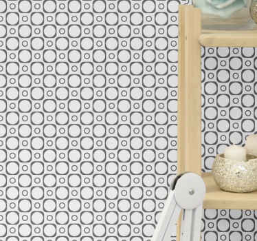 Black and white tiles wallpaper for bathroom. Change a bathroom space with this top quality tile effect luxury wallpaper, original and easy to apply.