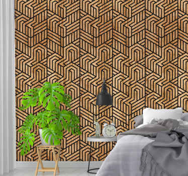 This amazing modern living room wallpaper consists of geometrical shaped that creates an interesting optical illusion will be perfect four your home.