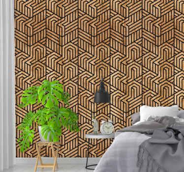 Acest uimitor tapet modern de sufragerie este format din formă geometrică care creează o interesantă iluzie optică va fi perfect patru acasă.