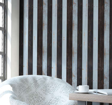 Rustic Wooden Textured Wallpaper