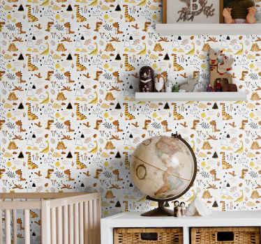 Here we have an amazing childrens bedroom wallpaper that will absolutely beautify your children's bedroom. It is really easy to apply!