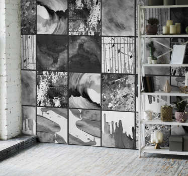 Get lost in the urban jungle that is this incredible abstract city art wallpaper. Free worldwide delivery available now!