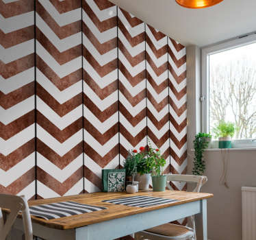 Wow, look at that wall! Those striped wallpapers look like an abstract interpretation of chocolate bars. Order it now and find out on your own!