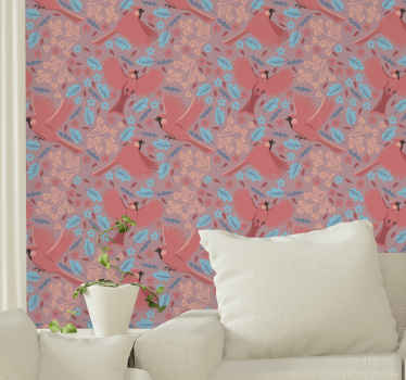 Lovely wallpaper decoration for home. You would be amazing by the effect and change this design would bring on your space.
