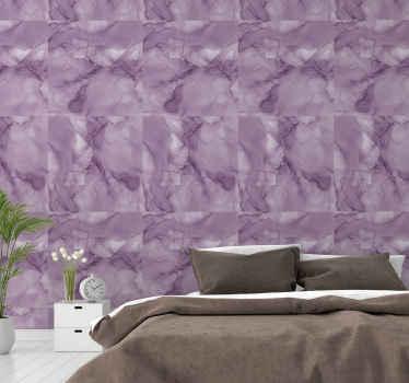 Beau papier peint de texture de marbre à motifs abstrait violet. Vous créeriez une atmosphère incroyable sur votre espace avec ce papier peint.