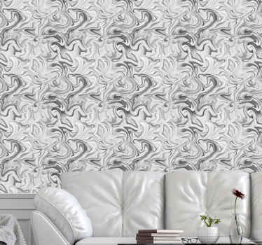 Classic white and black crack marble wallpaper - This can be your bedroom wallpaper, bathroom wallpaper, etc. Produced with quality material.