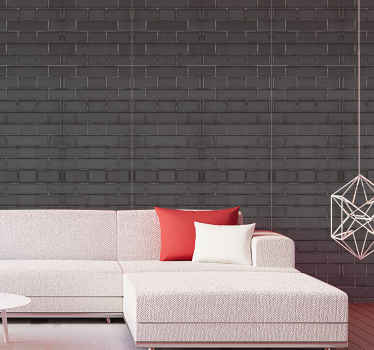 Realistic looking grey brick stone patterned wallpaper to cover a wall. Beautiful luxury wallpaper for living room, lounge, hallway, office, etc.