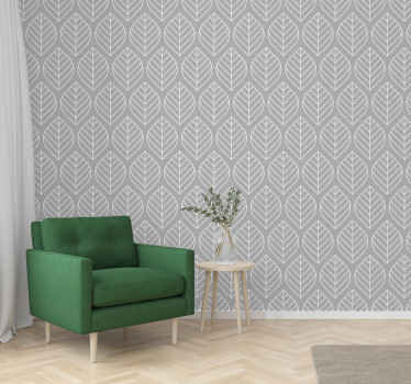 A soft and lovely looking scandic leaf style grey wallpaper for your space decoration. You would love this on any space installed  an it is original.