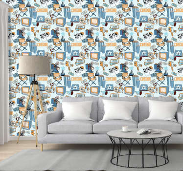 Movie night living room Wallpaper