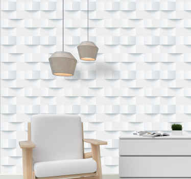 Luxury wallpaper with the illustration of 3D sticky notes white perfect for you to decorate the space of your living room, dining room.
