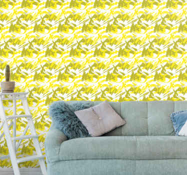 Få denne fantastiske moderne pensel i gul luksustapet i dit hus! Vent ikke længere og bestil dit nye tapet nu!