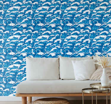 Get this amazing peaceful scenery wallpaper now in your house! It displays a wave of paint and it is available in the size that you want it in!