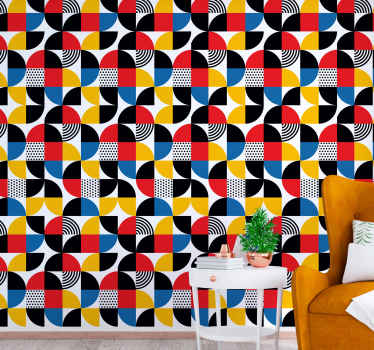 Get some little abstraction in your house with this 'abstract geometric shapes' geometric wallpaper. Don't wait any longer and order yours now!