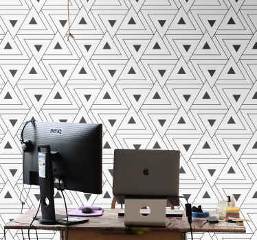 Amazing and creative Grey Triangle Wallpaper. Perfect for home and office decor!  Get yours now online! Easy to apply! Home delivery!