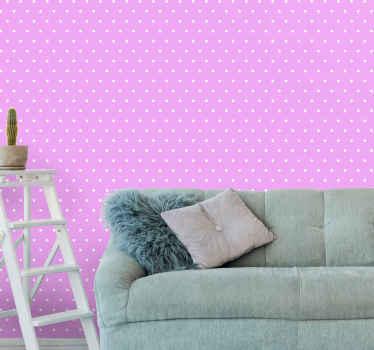 Redovite točke na pozadini ružičaste pozadine za ukrašavanje vašeg doma. Ova bi tapeta preuredila vaš prostor lijepim izgledom i efektom.