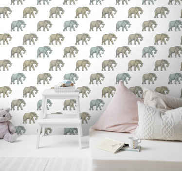 Imagine, you walk into your baby's bedroom and see him sleeping with elephants. It looks so adorable! Order your animal print wallpaper today!