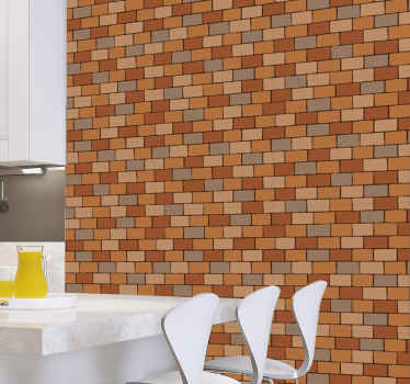 Si vous désirez un espace mural en brique, vous pouvez simplement improviser avec notre papier peint à texture de carreaux de brique de haute qualité.