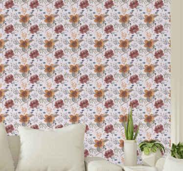 Décorez votre maison ou votre bureau avec notre incroyable papier peint de luxe en feuilles de roses vintage dorées. Fait de matériaux de qualité