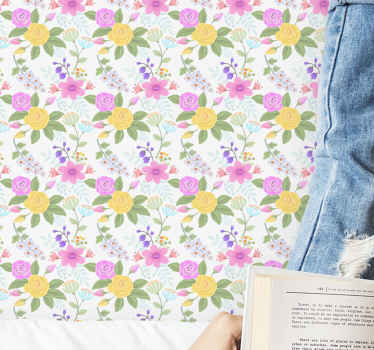 Add a lovely soft touch on a space especially for children space with this high quality vinyl wallpaper with amazing flower patterns.