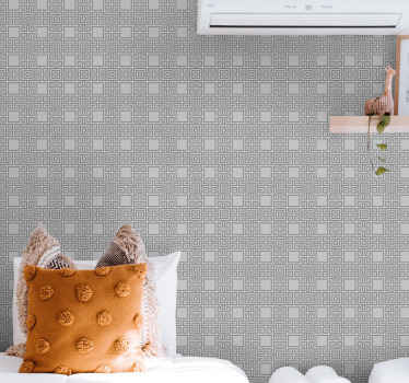 Looking for something simple but lovely to wrap your wall space to enjoy your space? This seamless square shapes modern wallpaper would be great.