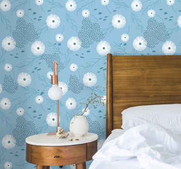 A beautiful flower vinyl wallpaper that can be decorated on any space in the home and for an office and business space..