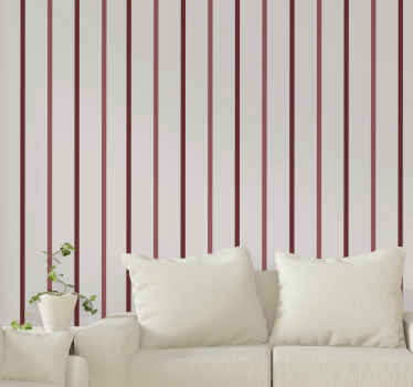 Vertical Wallpaper with Diagonal red stripes: a wallpaper to give your place a touch of nature with colorful attention. Easy to apply! Home delivery!