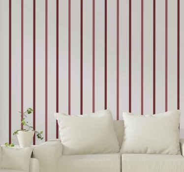 Vertikale Tapete mit diagonalen roten Streifen: eine tapete, die Ihrem ort einen hauch von natur und aufmerksamkeit verleiht. Hauslieferung!