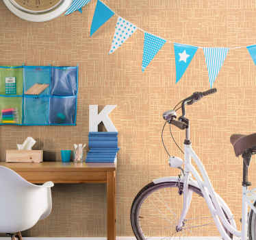 Vinyl wallpaper with an illustration Brown not straight lines ideal for you to protect the walls of your office, your living room or any other space.