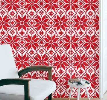 Tapeta rustykalna ze słowiańskim wzorem - tapeta, która nada twojemu wnętrzu wyjątkowo piękny wygląd! Idealny do salonu, jadalni, czy sypialni!
